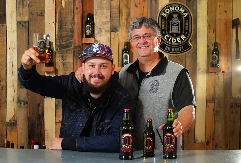 Sonoma Cider founders Robert Cordtz, left, and his father, David, at their production facility in Healdsburg, on Tuesday, March 1, 2016. (Christopher Chung/ The Press Democrat) Sonoma Cider Christopher Chung
