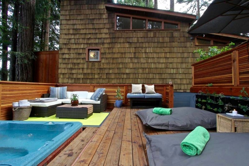 Redwood Treehouse Cabin in Guerneville.