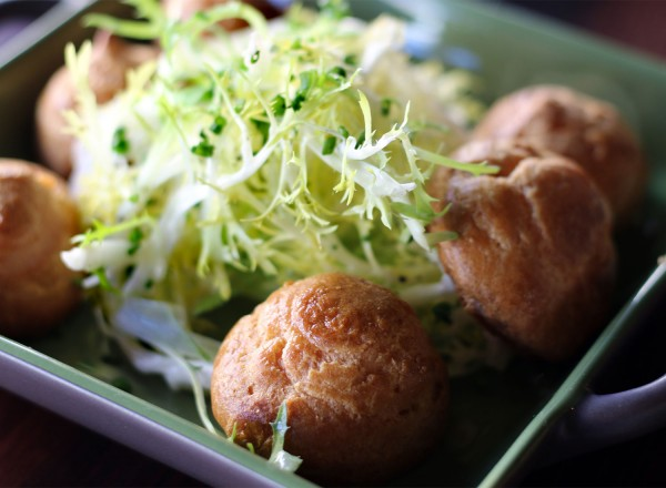 Gougeres at Petaluma French restaurant, Crocodile. Heather Irwin/PD