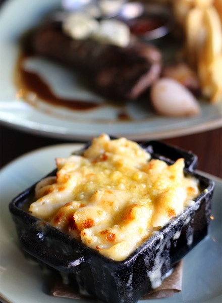 Macaroni gratin at Petaluma French restaurant, Crocodile. Heather Irwin/PD