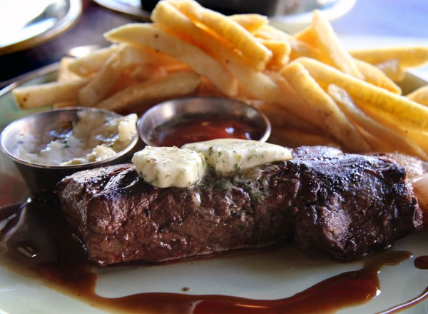 Steak frites at Crocodile Restaurant in Petaluma. Heather Irwin/PD