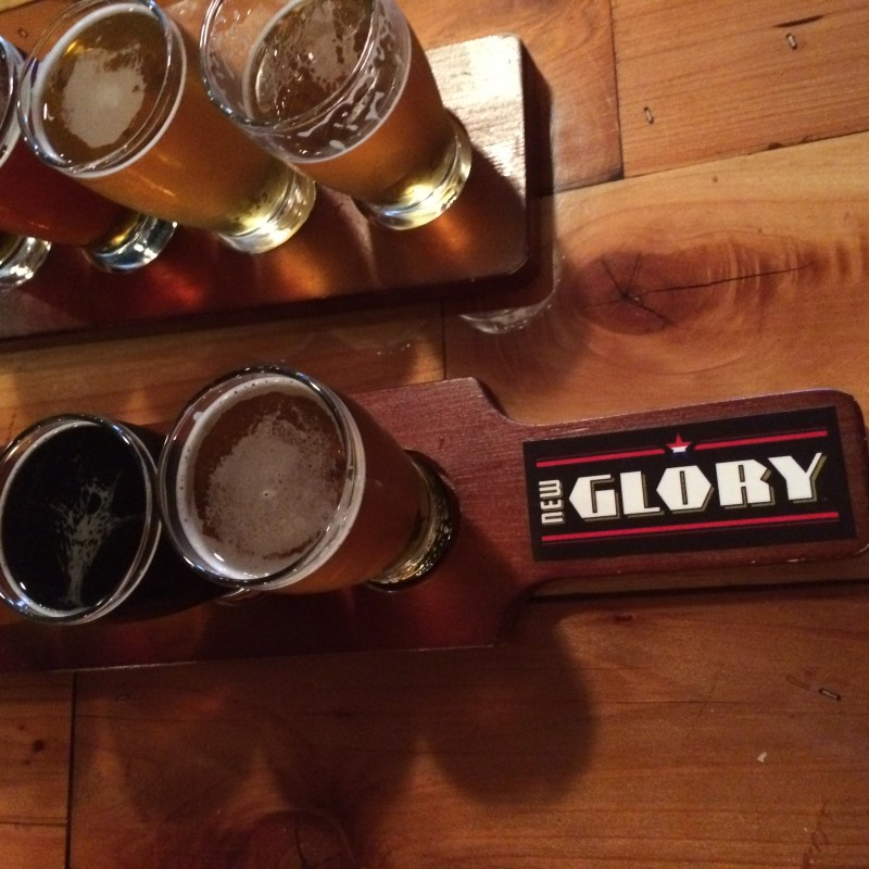 New Glory beer sampler.