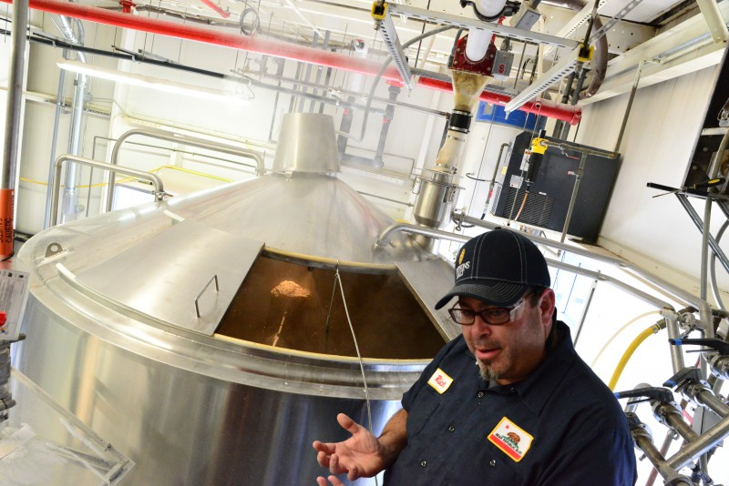Richard Norgrove Jr. of Bear Republic Brewing Company speaking about their brewing process at their facility in Cloverdale. (Photo by Tim Vallery)