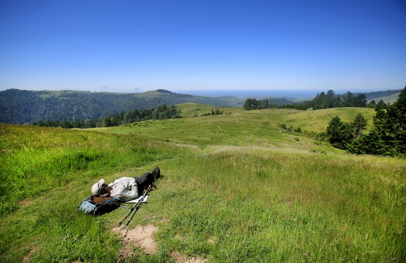 Popularly known as the Islands in the Sky, The serenity of Ithe Willow Creek addition to Sonoma Coast State Park is not lost to a snoozing hiker.