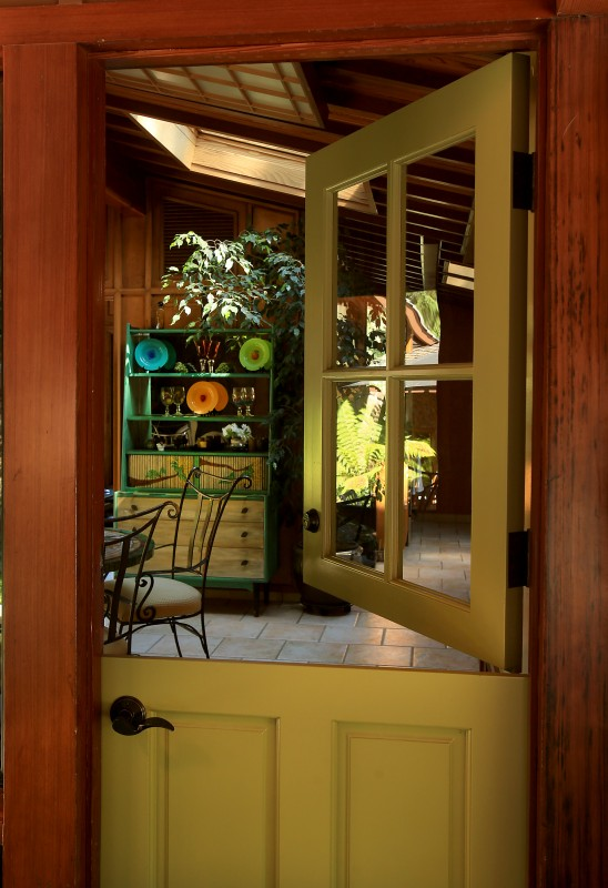 The entrance to the kitchen and dining area at the first Sonoma County home of Charles Schulz, where he raised his children, Tuesday August 9, 2016. (Kent Porter / Press Democrat) 2016 Kent Porter