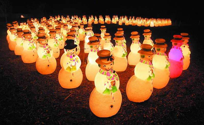 Lighting of the Snowmen Holiday Festival at Cornerstone Sonoma, December 3.