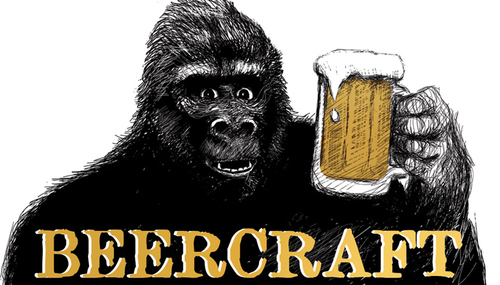 Beercrafts Gorilla logo, you can see this big logo signage from highway 101 in Rohnert Park. (Photo from Beercraft)