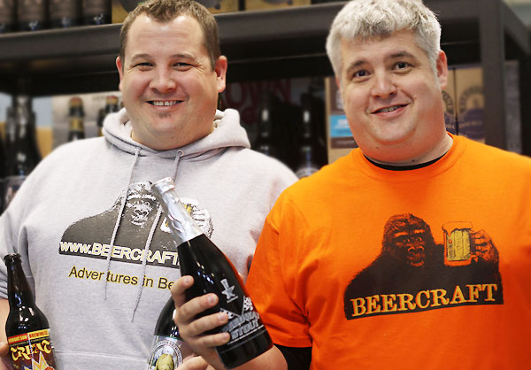 Matt Fenn (Left) and J.T. Fenn, owners of Beercraft Rohnert Park and Novato. (Photo from Bite Club Eats)