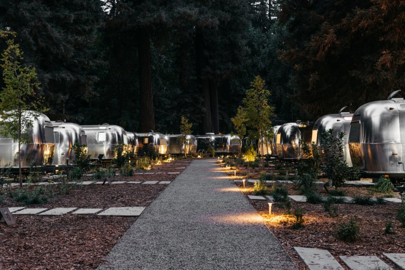 Airstreams. (Photo courtesy of coolhunting.com)
