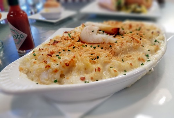 Crab mac and cheese at Sonoma Cider Taproom and Restaurant in Healdsburg. Heather Irwin/PD