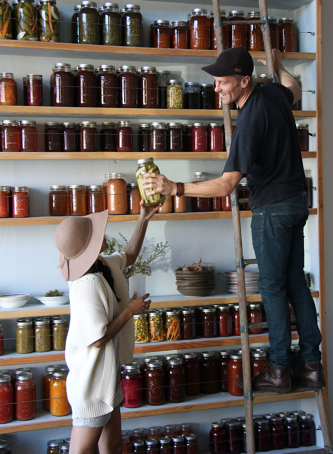 Dalia Martinez and Jason Sokach of flower and bone in Santa Rosa. Heather irwin/PD