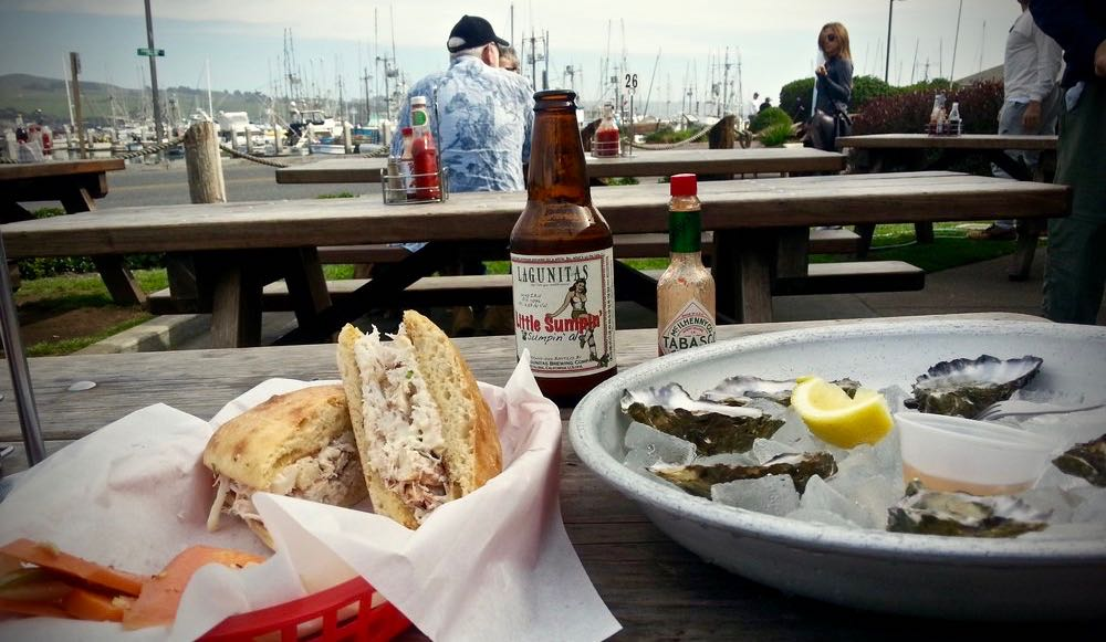 At Fisherman's Cove, enjoy a crab sandwich with some local crafts beer at on of the communal tables overlooking the bay. (yelp.com)