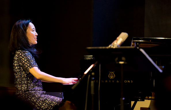 American Jazz musician Helen Sung plays piano as she leads her quartet during a performance at Jazz at Lincoln Center's Dizzy's Club Coca Cola in the Frederick P Rose Hall, New York, New York, March 9, 2016. (Photo by Jack Vartoogian/Getty Images)
