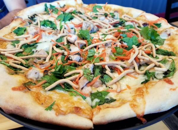 Thai chicken pizza from Hippazzazz in Sebastopol. Heather irwin/PD