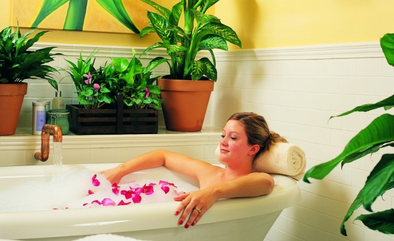 Rose bath. (Photo courtesy of macarthurplace.com)