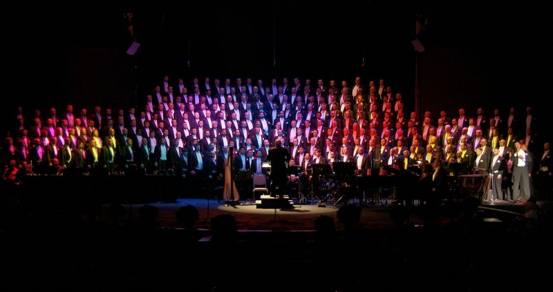 "The San Francisco Gay Men's Chorus performs ""Home for the Holidays"" at the Luther Burbank Center for the Arts on November 27."