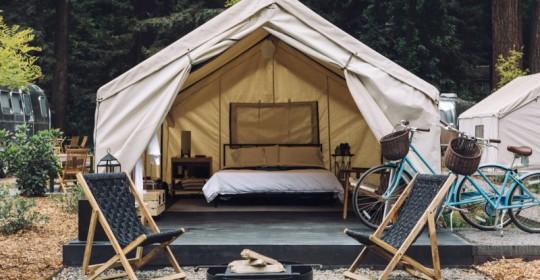 Tent at AutoCamp. (Photo courtesy of autocamp.com)
