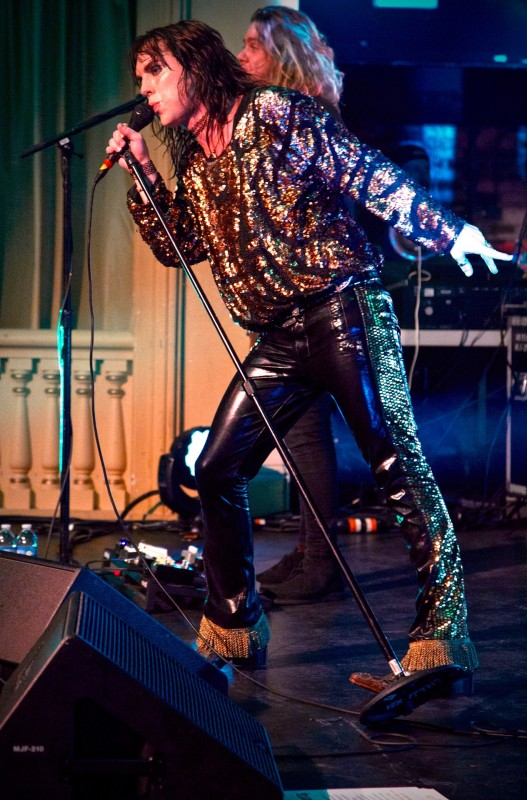 The Struts singer Luke Spiller at The Napa Valley Opera House, Friday November 4. (Photo by Estefany Gonzalez)