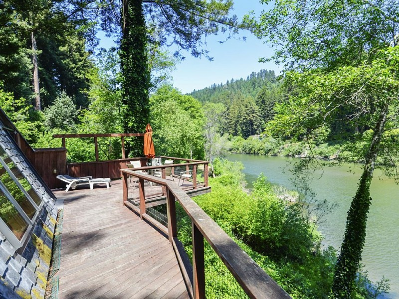 View of the Russian river.