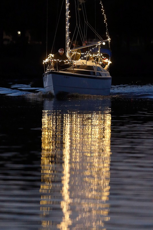 The Lighted Boat Parade in Petaluma, California, on Saturday, December 17, 2016. (Alvin Jornada