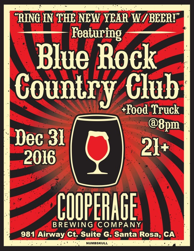 Cooperage Brewing Company New Year's Eve flyer. (Courtesy of Cooperage)
