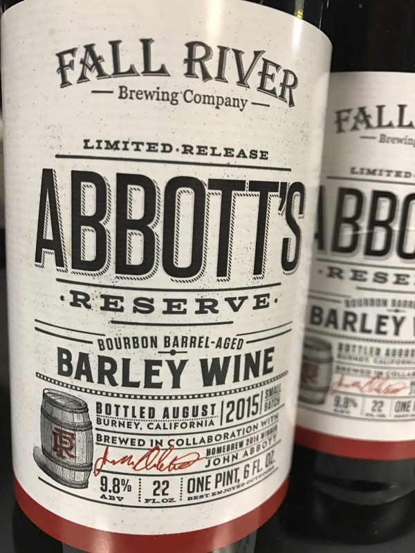 Fall River Brewing Abbott's, available at Beer Craft. (Photo by Jess Vallery)