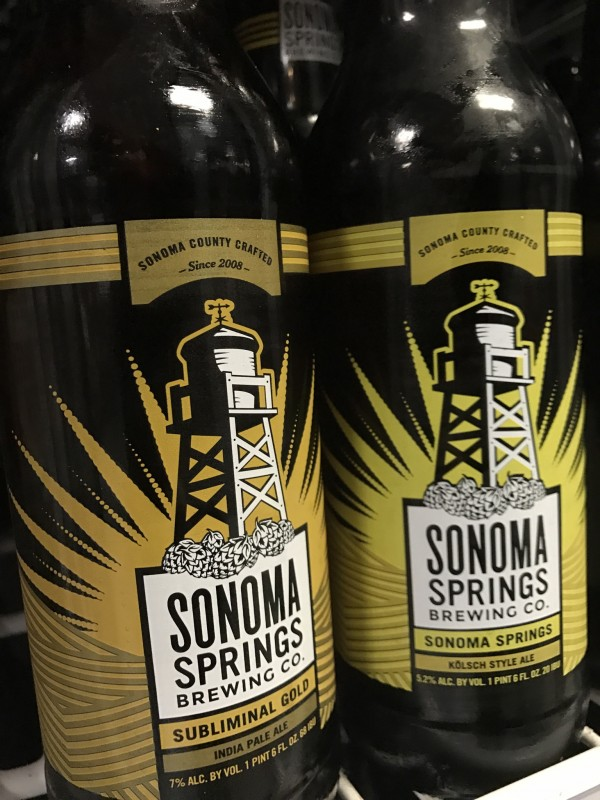 Sonoma Springs Subliminal IPA, available at Beer Craft and the Sonoma Springs taproom. (Photo by Jess Vallery)