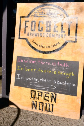 The sign at Fogbelt Brewing Company. (Photo by Tim Vallery)