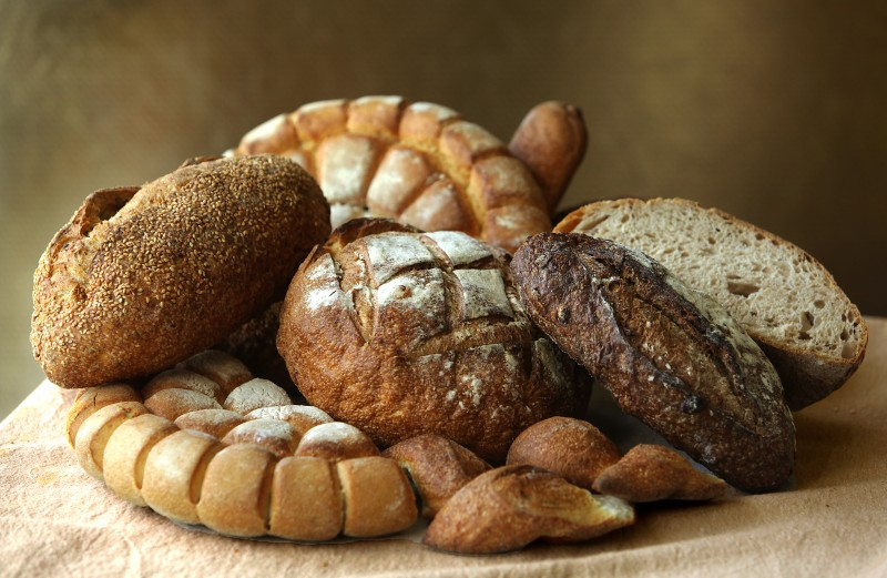A variety of award-winning breads at Costeaux Bakery in Healdsburg. (Photo by John Burgess)
