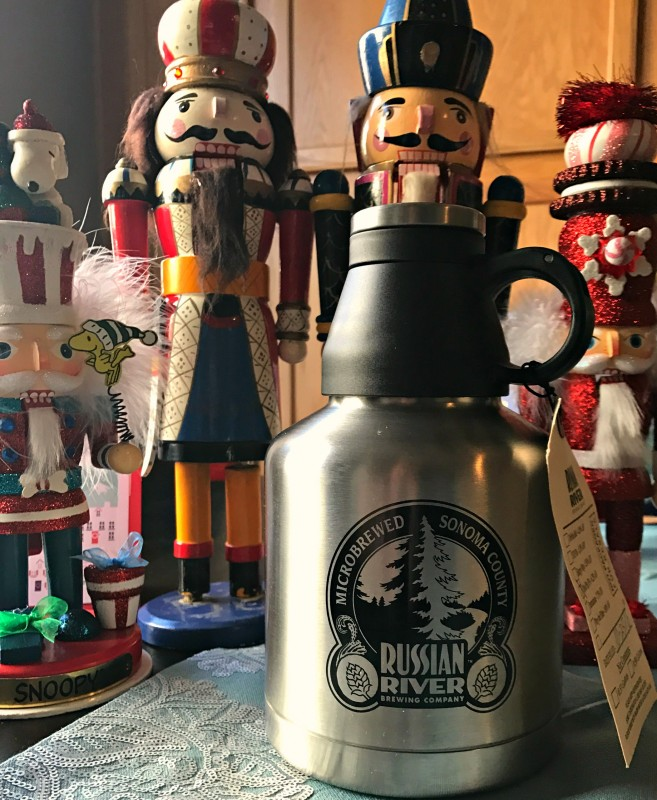 The mini stainless steel growler at Russian River Brewing. (Photo by Jess Vallery)