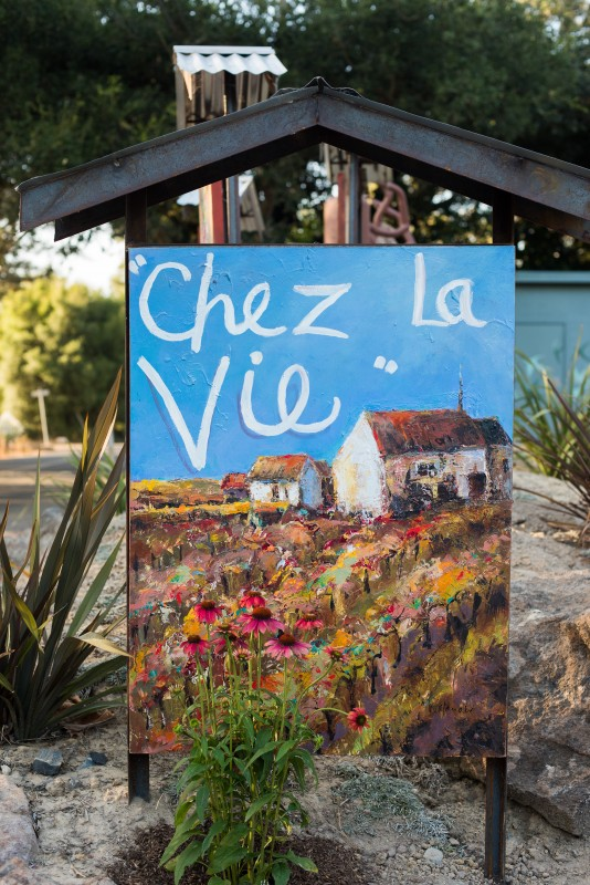 Carole Watanabe's portrait of their home, which they named Chez La Vie.