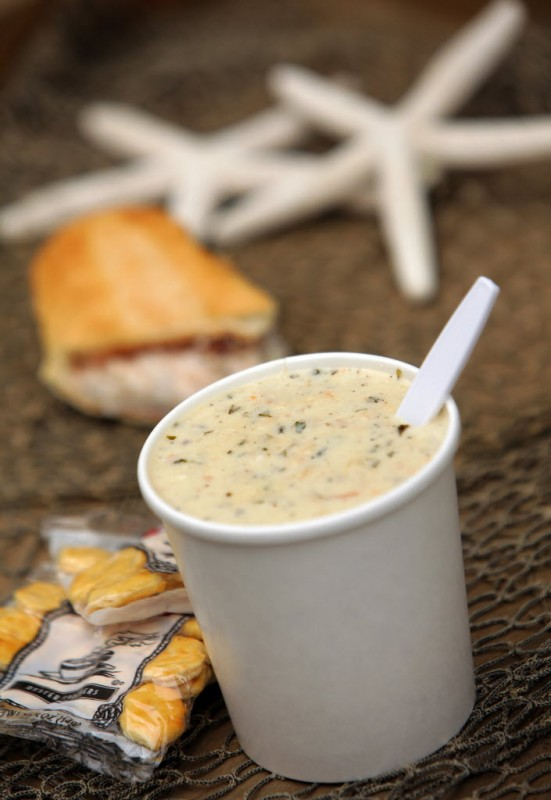 Clam chowder at Spud Point in Bodega.