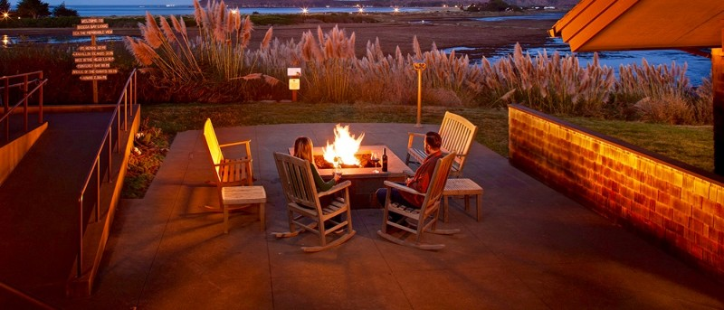 Drakes Fireside Lounge at the Bodega Bay Lodge.