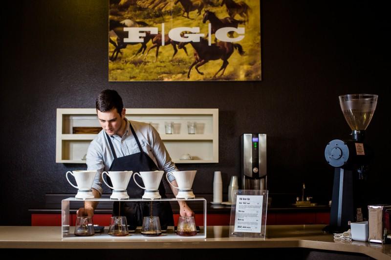 Flying Goat Coffee in Healdsburg. (Photo by Kelly Puleio)