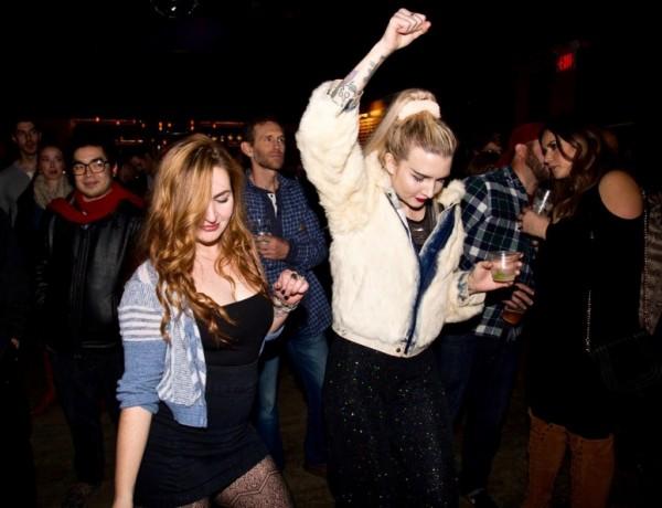 Crowd dances at HopMonk tavern in Sebastopol. (Estefany Gonzalez)