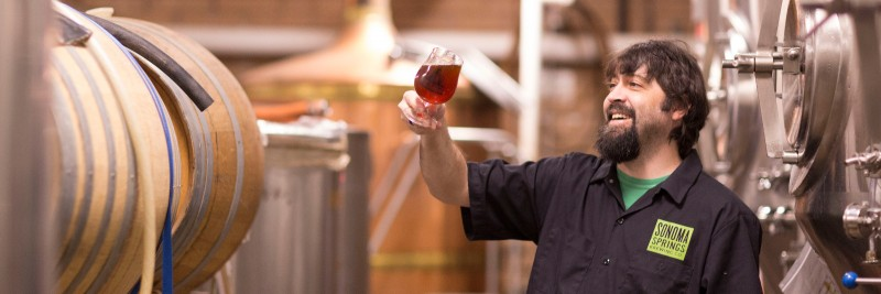 Tim Goeppinger, Founder and Head Brewer (photo courtesy of Sonoma Springs)