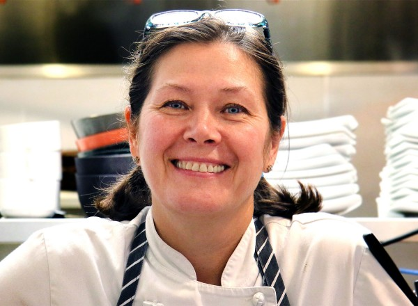 Chef Zaitseva at Zosia Cafe and Kitchen in Graton, a California and Eastern European restaurant. Heather Irwin/PD.