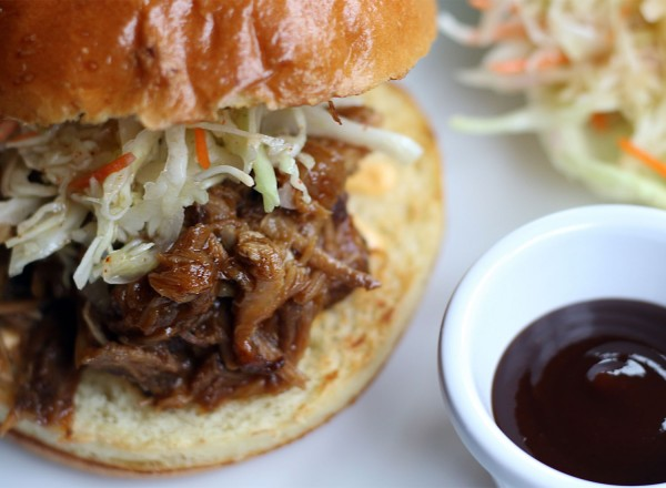 Pulled pork sandwich at Zosia Cafe and Kitchen in Graton, a California and Eastern European restaurant. Heather Irwin/PD.