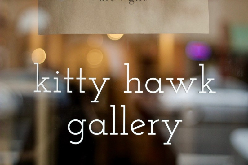 Kitty Hawk Gallery on North Main Street in Sebastopol. (Photo by Chelsea Kurnick)