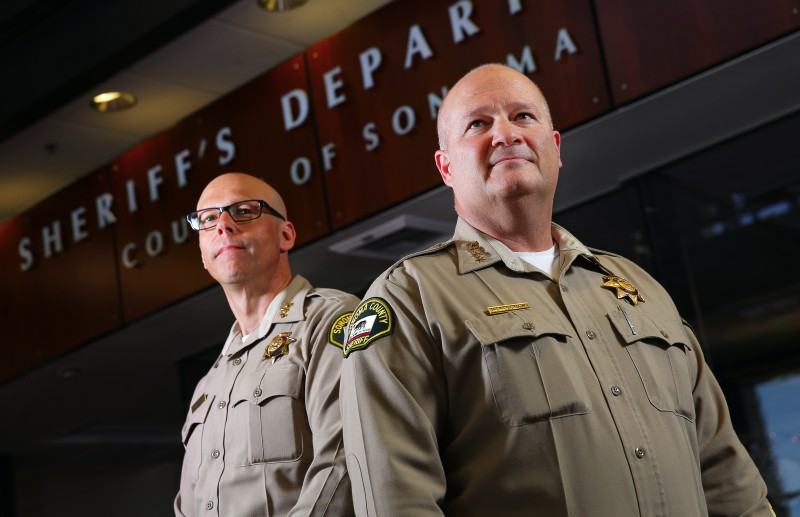Sonoma County Sheriff Sonoma County Sheriff Steve Freitas, right, and Assistant Sheriff Robert Giordano. (Christopher Chung)