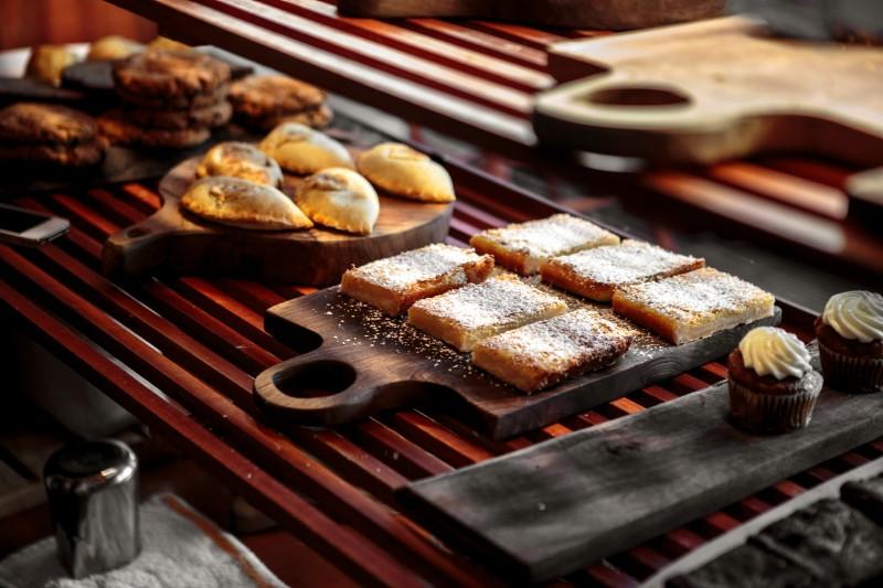 Criminal Baking lemon squares in the bakery case Chris Hardy