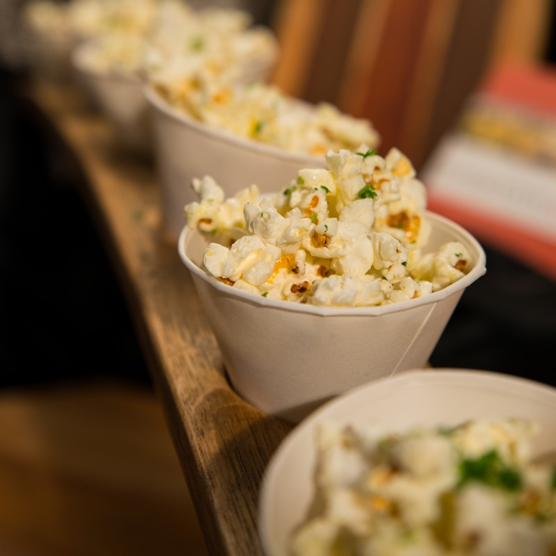 Hop Salt popcorn made by Peloton Catering. (photo by Tim Vallery)