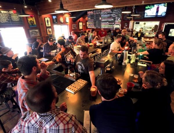 Lagunitas Taproom in Petaluma on Friday afternoon. (JOHN BURGESS / Sonoma Magazine)  beer