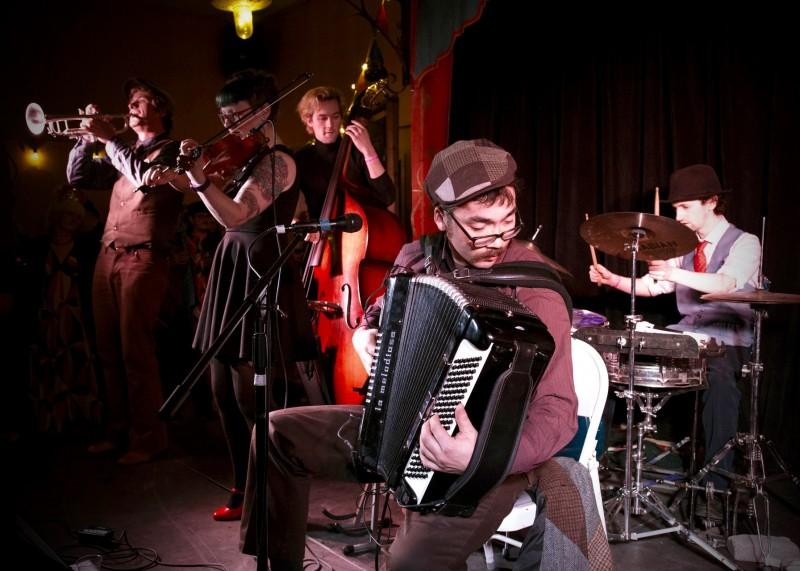 Oddjob Ensemble performs at the inaugural Rivertown Ball, December 31. (Estefany Gonzalez)