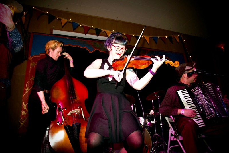 Oddjob Ensemble performs at the inaugural Rivertown Ball, December 31. (Estefany Gonzalez)
