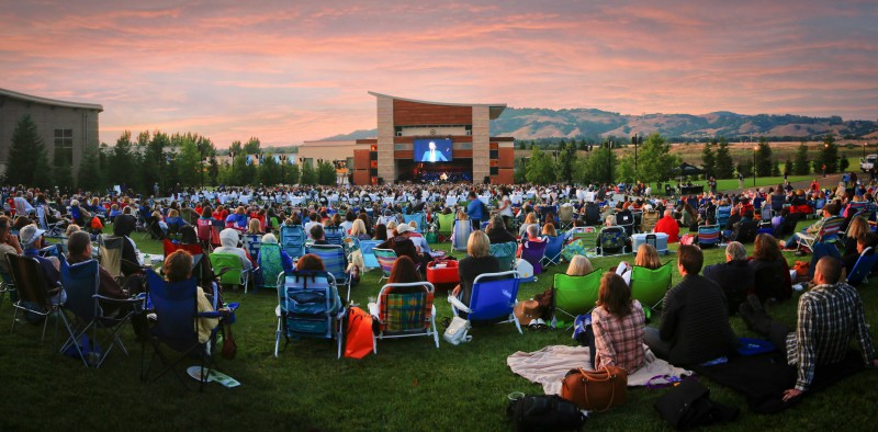 NIKKI ANDERSON Wide shot of the lawn seating area at Weill Hall at the Green Music Center at Sonoma State University 2014