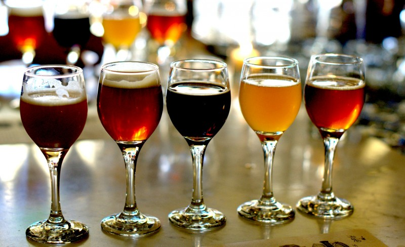 Beer sampling at SF Beer Week 2016. (Tim Vallery)
