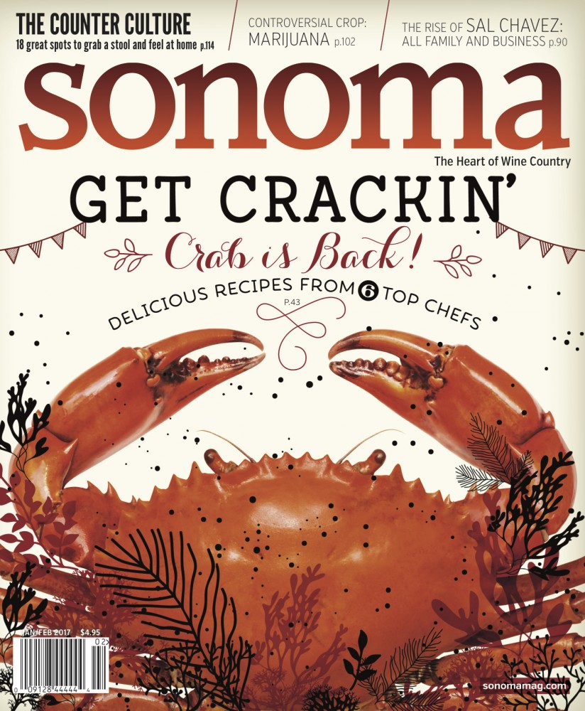 Sonoma Magazine Cover Jan/Feb 2017