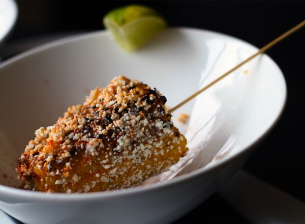 Elote at Victory House restaurant at Epicenter in santa rosa. Heather Irwin/PD