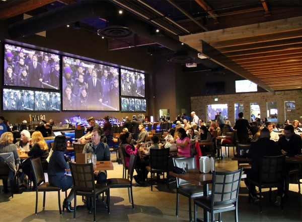 Interior at Victory House restaurant at Epicenter in santa rosa. Heather Irwin/PD